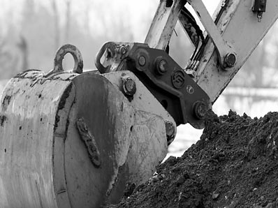 backhoe close-up